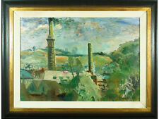 'Cornish Tin Mines' by Ronald Ossory Dunlop - Original signed Oil. Listed Artist