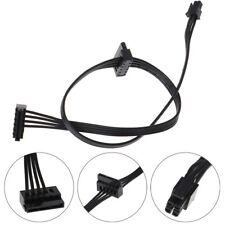 1Pc 45CM mini 4 Pin to 2 Sata SSD power supply 'cable for lenovo M410 M610 M F3