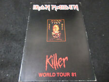 Iron Maiden 1981 Killer World Tour Book Concert Program NWOBHM Killeres era