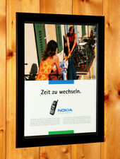 1999 Nokia Mobile Phone Ltd Connecting People Nokia 5100 / 5110 / 5130 Ad Framed
