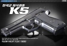 Academy Korea K5 Full Size Plastic Airsoft Pistol BB Replica Hand Toy Gun 6mm