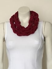 Necklace Finger Knitted Scarf Braided Chain Handmade Jewellery Two Cherry Braids