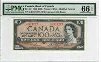 Canada $100 Dollars Banknote 1954 BC-43c PMG GEM UNC 66 EPQ