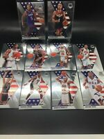 2019-20 Panini Mosaic USA 10-Card Team set w/ Kevin Durant, Curry + More *DES*!!