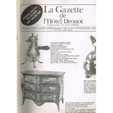 La GAZETTE de l'Hôtel DROUOT 1981 N°4 IVOIRE PIERRE DURE JAPON et CHINE Art Nègr