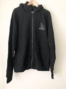 Hayabusa Black Sweatshirt Hoodie Full Zip Embroidered Graphics Men XL
