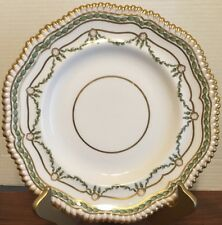 """Antique 1890s Copelands China 10 1/2"""" Plate Gilman Collamore Gilt Feathers Rim"""