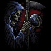 Reaper Sphere Skeleton Skull Gothic T-Shirt Tee