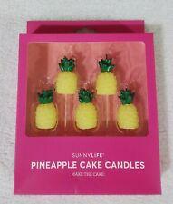 Sunnylife Pineapple Cake Candles Set of 5 Party Celebrate Yellow Multi