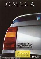 1265OPE Opel Omega 3000 Prospekt 1990 1/90 deutsche Ausgabe brochure broszura