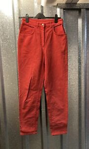 Womens Lovely Red Vintage High Waisted Mum mom Jeans Size EU 40 UK 10-12