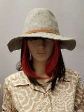 Grey Brim 100% Wool Fedora Rancher Hat Merona New