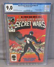MARVEL SUPER HEROES SECRET WARS #8 (1st Black Venom Costume Spider-Man) CGC 9.0