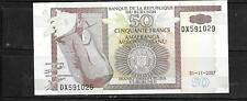 BURUNDI #36a 2007 50 FRANCS UNC MINT BANKNOTE PAPER MONEY CURRENCY BILL NOTE