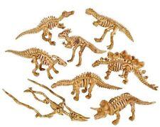 "16 Pc 2"" Dinosaur Fossil Skeleton Figures Two of Each Jurassic Dino Bone Toy"