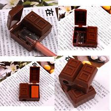 2 In 1 Mini Cute Chocolate Pencil Sharpener Penknife Sharper Rubber Eraser HOTQP