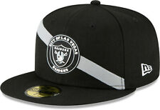Las Vegas Raiders New Era 5950 Team Stripe Black Cap