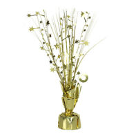 Party Table Gold/Silver Spray Foil Centrepiece Balloon Weight Decorations