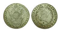 pcc1283_5)  Austria , silver 20 Kreutzer Franz I 1808 A - TONED