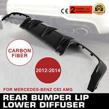 New Carbon Fiber Rear Bumper Lip Diffuser For 12-14 Mercedes-Benz C300