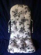 "Rocking Chair Edition Cushion "" Linen Rose Black "" German Manufacturing"