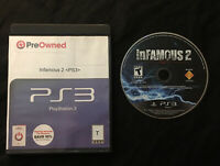 inFamous 2 — Cleaned/Tested! Fast Free Shipping! (PlayStation 3, ps3, 2009)