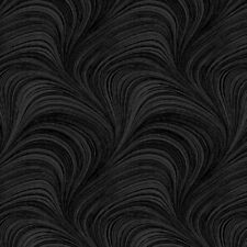 Wave Texture Black Cotton Quilting Fabric 1/2 YARD
