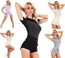 Women's Jumpsuit Hot Pants Shorts Party Overall Catsuit 5 colors Size 8,10,12