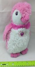 The Petting Zoo Posh Plush Pink Penguin w/ Rhinestone Heart Valentine's Day Toy