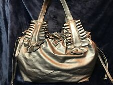 Hobo Bag- Metalic Silver/Gold (depends how light hits it)-Zipper Closure