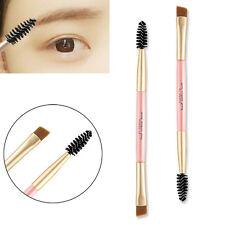 Bambú Doble Lado Cepillos Pincel Para cejas Brocha máscara Peine Maquillaje