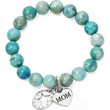 NWT Brighton Stories Of MOM Turquoise Jasper Beads Stretch Bracelet  MSRP $54
