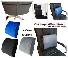 Adjustable Memory Foam Lumbar Cushion Back Support Pillow Car Seat Office Chair