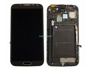 Affichage Ecran LCD tactile+frame pour Samsung Galaxy Note 2 N7100 gris+cover