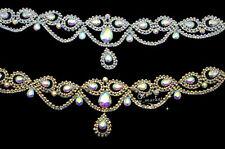 1 pcs AB Rhinestone Trim Bridal Sashes DIY Wedding accessories A547