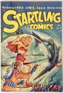 * STARTLING COMICS # 52 VG 4.0 1st TYGRA SCHOMBURG COVER GOLDEN AGE COMIC