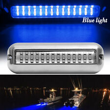 BLUE 42 LED Underwater BOAT/MARINE Transom LIGHT 316 Stainless Steel Pontoon 1PC