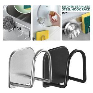 304 Stainless Steel Sponges Holder Self Adhesive Sink Organiser Rustproof Water