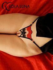 Sexy Lola Luna String Malaga ° Open ° TG S NERO/ROSSO