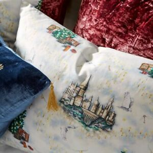 Pottery Barn HARRY POTTER™ HOGWARTS™ Christmas Percale Sheet Set QUEEN