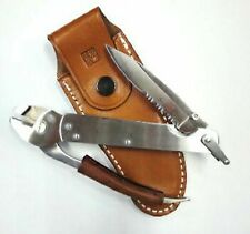 Al Mar Quick Plier Folding Knife With Leather Case 240mm Made in Japan F/S NEW