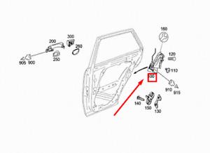MERCEDES-BENZ ML W164 Rear Left Door Lock A1647302535 NEW GENUINE