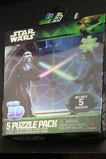 """Star Wars Super 3D 5 Puzzle Pack 12"""" X 9"""" & 9"""" X 6"""" Jigsaw Puzzles 1X150 4X100"""