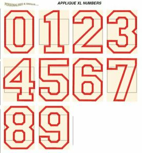 APPLIQUE NUMBERS XL FONTS CD USB machine embroidery design file format pes etc