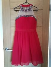 Little Mistress red Christmas New Year party dress size 10 worn once