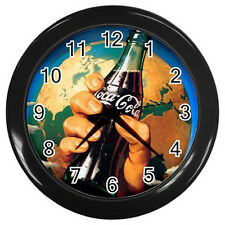 Wall Clock Coca-Cola World Ads  - Coke Cola Retro Ads Retro Rare Design!