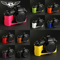 Handmade Genuine real Leather half Camera Case bag for Olympus STYLUS 1 10 color
