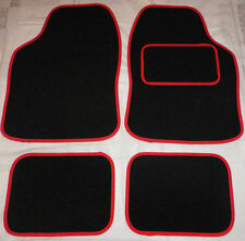 Red trim and Black car mats for TOYOTA YARIS AVENSIS AYGO CELICA COROLLA IQ