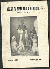 Novena antigua de San Martin de Porres andachtsbild santino holy card santini