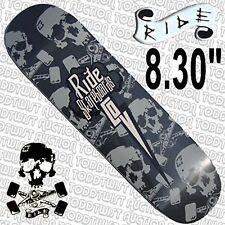 "RIDE Skull & Trucks - 8.3"" Park / Ramp Skateboard Deck"